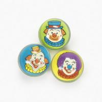 32mm 3D Clown Face Case of 864 Super Bouncy Balls BULK