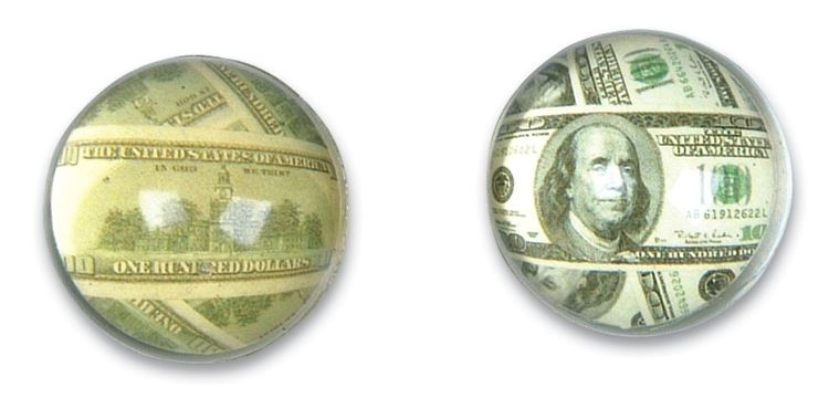 27mm 3D Money Super Bouncy Ball