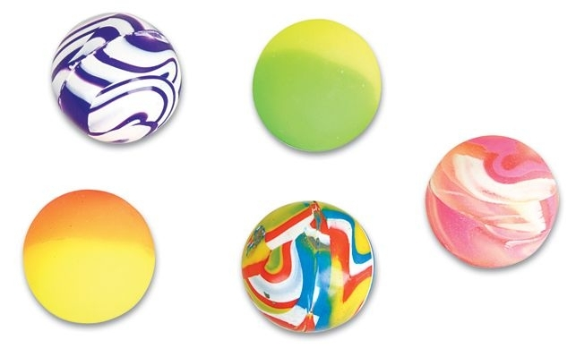 45mm Assorted Case of 300 Super Bouncy Balls BULK