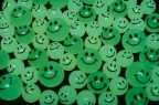 27mm Glow in the Dark Smile Super Bouncy Ball