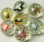 45mm 3D Spider and Web Super Bouncy Ball