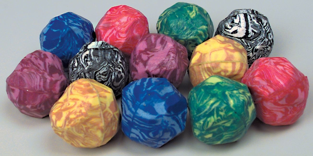 49mm Rock shaped Case of 288 Super Bouncy Ball BULK