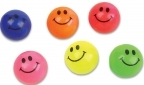 27mm Solid Colored Smile Face Super Bouncy Ball