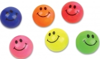 27mm Case of 1728 Solid Colored Smile Face Super Bouncy Balls Bu